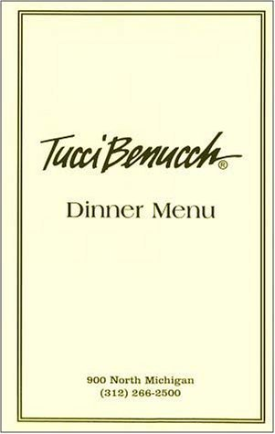 A page from the menu of the Tucci Benucch restaurant in Chicago