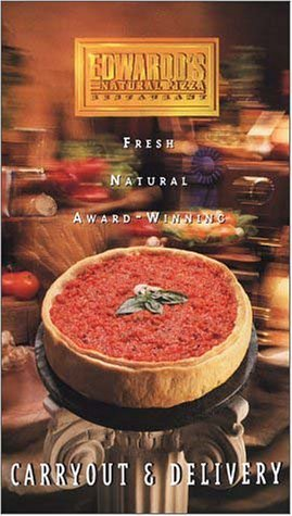 A page from the menu of the Edward's Natural Pizza restaurant in Chicago